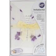 "Wilton® 9"" x 6"" x 5"" Pressed Floral Lavender Invitation Kit, 50/Pack"