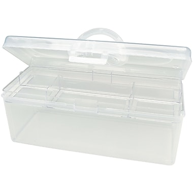 Darice® Plastic Craft Hobby Tote, Clear