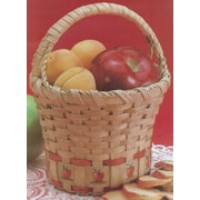"Commonwealth Basket 6"" x 6"" x 9"" Hill Apple Basket, Burgundy"