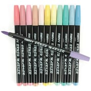 Uchida Brush Point Wet-Erase Marker, Assorted, 12/Pack