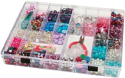 Darice Plastic 35 Cavity Storage Box, Clear 298249