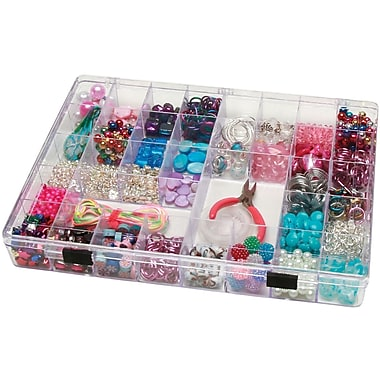 Darice® Plastic 35 Cavity Storage Box, Clear