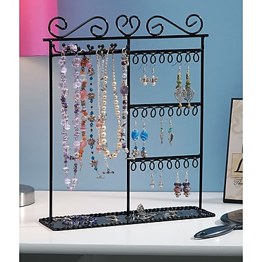 Darice® 12in. x 3 1/2in. x 14in. Metal Jewelry Display Shelf, Black