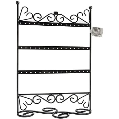 Darice® 9in. x 12in. x 4in. 3 Tier Metal Earring Stand With Scroll, Black