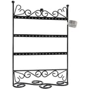 "Darice® 9"" x 12"" x 4"" 3 Tier Metal Earring Stand With Scroll, Black"