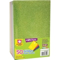Fibre Craft® Multi Colored Glitter Foam Sheet Stack, 5 1/2in. x 8 1/2in., 50/Pack
