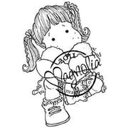 "Magnolia Sweet Crazy Love 6 1/2 "" x 3 1/2"" Cling Stamp, Tilda With Cozy Heart"