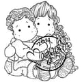Magnolia Sweet Crazy Love 6 1/2 in. x 3 1/2in. Cling Stamp, Cuddly Siblings