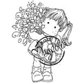 Magnolia Sweet Crazy Love 6 1/2 in. x 3 1/2in. Cling Stamp, Tilda Loves Flowers