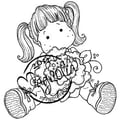 Magnolia Sweet Crazy Love 6 1/2 in. x 3 1/2in. Cling Stamp, Tilda With Peony Tails