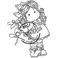 Magnolia Sweet Crazy Love 6 1/2 in. x 3 1/2in. Cling Stamp, Tilda With Daisy
