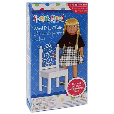 Fibre Craft® Springfield Collection® Wood Chair For 18in. Dolls, White