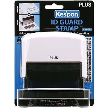 Plus Corporation Kes'pon Large ID Guard Stamp, White