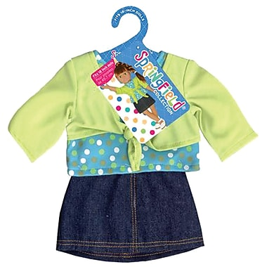 Fibre Craft® Springfield Collection® Shrug and Skirt For 18in. Dolls, Lime/Denim