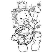 """Magnolia Princes & Princesses 6 1/2"""" x 3 1/2"""" Cling Stamp, Baby Tilda"""