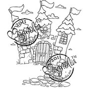 "Magnolia Princes & Princesses 6 1/2"" x 3 1/2"" Cling Stamp, Tilda's Castle"