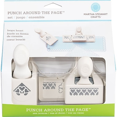 Martha Stewart Crafts® Punch Around the Page Set, Double Hearts, 1.8