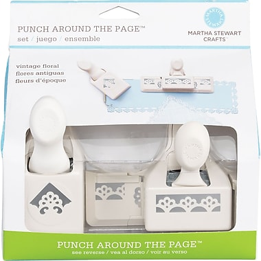 Martha Stewart Crafts® Punch Around the Page Set, Deco Flowers, 1.8