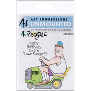"Art Impressions People 6"" x 4"" Cling Stamp, The Lawn Ranger Set"