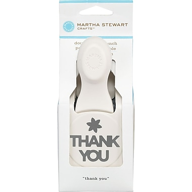Martha Stewart Crafts® Large Double Craft Punch, Thank You, 1 5/8