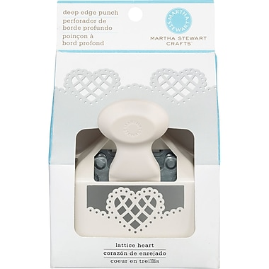 Martha Stewart Crafts® Deep Edge Punch, Lattice Heart, 2