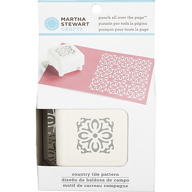 Martha Stewart Crafts® All Over the Page Punch, Country Tile, 1 1/2