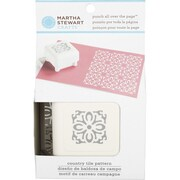 "Martha Stewart Crafts® All Over the Page Punch, Country Tile, 1 1/2"" x 1 1/2"""