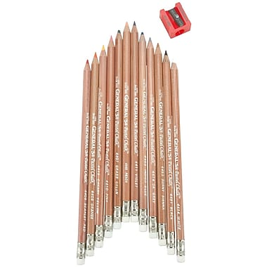 General Pencil 12 Piece Multi Pastel Chalk Pencils