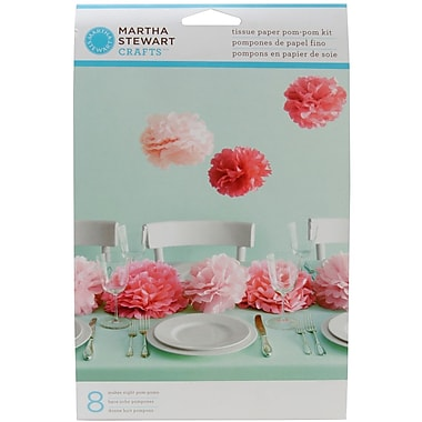 Martha Stewart Tissue Paper Pom Pom Kit, Pink