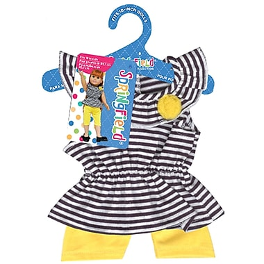 Fibre Craft® Springfield Collection® Striped Tank With Leggings For 18in. Dolls, Yellow
