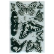 """Stampendous® 4"""" x 6"""" Perfectly Clear Stamp, Butterflies"""