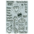 Stampendous® 4in. x 6in. Perfectly Clear Stamp, Baby Invite