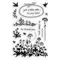 Stampendous® 4in. x 6in. Perfectly Clear Stamp, Wildflower Sprigs