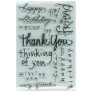 "Stampendous® 4"" x 6"" Perfectly Clear Stamp, Happy Messages"
