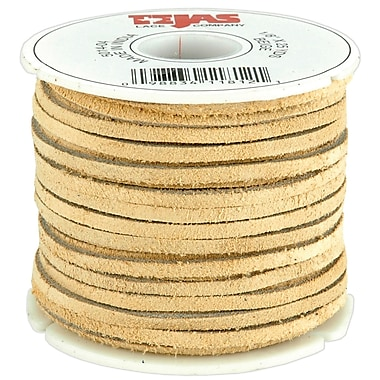Leather Factory® 1/8in. x 25 yds. Spool Solid Suede Lace, Beige