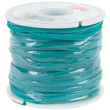 Leather Factory® 1/8in. x 25 yds. Spool Solid Suede Lace, Turquoise