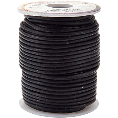 Leather Factory® 2 mm x 25 yds. Spool Round Leather Lace, Black