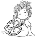 Magnolia Little Christmas 6 1/2 x 4in. Cling Stamp, Tilda With A Cute Lamb