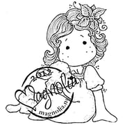 "Magnolia Little Christmas 6 1/2 x 4"" Cling Stamp, Tilda With A Cute Lamb"