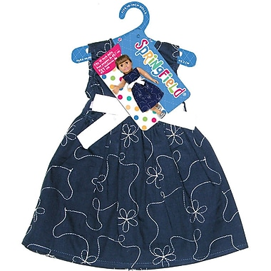 Fibre Craft® Springfield Collection® Party Dress For 18in. Dolls, Navy Blue/White