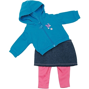Fibre Craft® Springfield Collection® Casual Outfit For 18in. Dolls, Denim/Pink/Turquoise