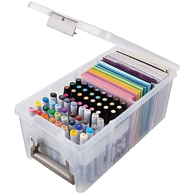 ArtBin® Super Satchel™ Marker Storage Satchel, Translucent Clear