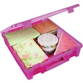 ArtBin® Super Satchel™ 1 Compartment Box, Translucent Raspberry