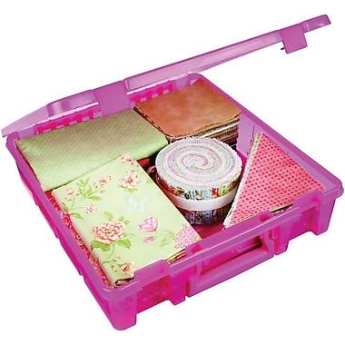 ArtBin® Super Satchel™ 1 Compartment Box, Translucent Raspberry