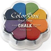 "Clearsnap® 4 3/4"" x 4 3/4"" Fluid Chalk Petal Point Inkpad, Primary Pastel"