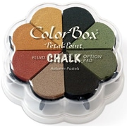 "Clearsnap® 4 3/4"" x 4 3/4"" Fluid Chalk Petal Point Inkpad, Autumn Pastel"