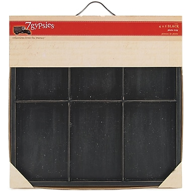 7 Gypsies® Artist Photo Tray, 4in. x 6in., Black