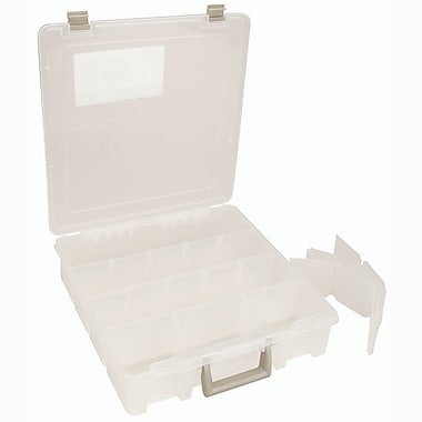 ArtBin® Super Satchel™ Compartment Box With Removable Dividers, Translucent