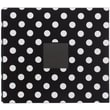American Crafts™ Patterned Postbound Album With Window, 12in. x 12in., Black With White