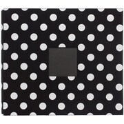 American Crafts™ Patterned Postbound Album With Window, 12 x 12, Black With White